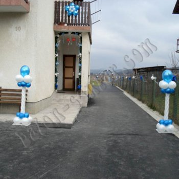 Balonske dekoracije - Dekoriranje kuća 1