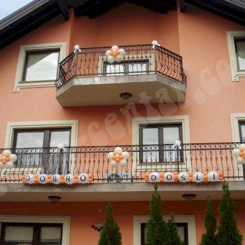 Balonske dekoracije - Dekoriranje kuća 2
